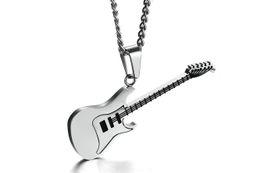 Подвески для мужчин онлайн-53 мм высокое качество нержавеющей стали гитара кулон ожерелье цепь черный кулон ожерелье для мужчин PN-87
