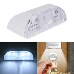 il buco della serratura automatico ha condotto la luce Sconti PIR Wireless Auto Infrared IR Sensor Rilevatore di movimento Keyhole 4 LED Light Lamp Night Lights Luce di movimento Sensore di luce ambientale