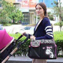 Wholesale Giraffe Bags - Animal diaper bag mummy nappy bag Zebra or giraffe babyboom multifunctional fashion infanticipate bags mother baby bag