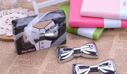 Wholesale Favor Bows - Fashion Metal Bow Tie Beer Bottle Opener Wedding Party Bridal Shower Favors and Gifts for Guest wen5460