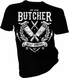 Охотничьи ножи онлайн-Мясо Hunter, Мясник, мясо, нож, охотник, мясники взрослые дети футболка мужчины футболка 2018 Мода топ тройник