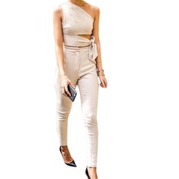 2017 Spring Lady Trousers Style No. K031 Hight Waist Beige Skinny Nude Pants And Crop Top For Women от