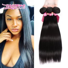 Wholesale Cambodian Weave Extensions - Peruvian Indian Malaysian Cambodian Brazilian Virgin Hair Weave 3 Bundles Straight Hair Wave Human Hair Extensions 30inch-40inch Long Inches