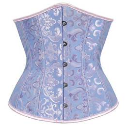 Wholesale Womens Sexy Corsets - XS-6XL womens bustiers corsets Shapewear Lady's Full Steel Boned Waist Training Corset Underbust Bustier Wedding party sexy shapers