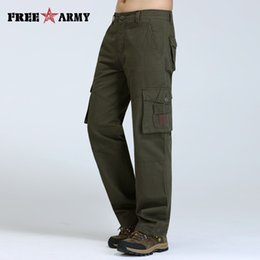 Wholesale Jeans For Cheap - Military Men Biker Cargo Pants Casual Men Jeans Cheap Slim Straight Male Jeans Pockets Trousers For Men Overalls Pants Mk76121