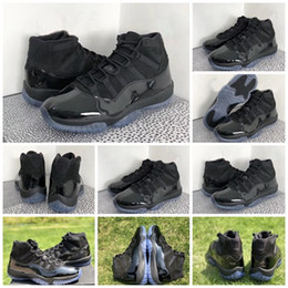 Wholesale Carbon Fiber Thread - Women Men 11 Prom Night Blackout 11S Basketball Shoes Sneakers For Man 2018 Hottest Authentic Real Carbon Fiber With Box 378037-005