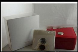 Wholesale square red box watch papers - Wholesale FREE SHIPPING Luxury WATCH BOX New Square Red box For Watches Booklet Card Tags And Papers In English