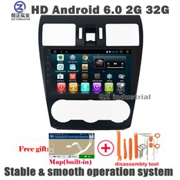 Wholesale Hd Radio Rds - QZ industrial HD 9inch Android 6.0 for Subaru WRX Forester 2014 2015 2016 Car DVD Player with Canbus GPS 3G 4G Radio Navi BT WIFI RDS