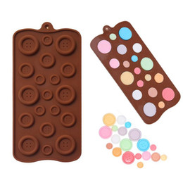 Wholesale Christmas Cookies Chocolate - Wholesale- 1pc button shape Silicone mold chocolate cookies mold Cute fondant sugar cooking tools cake decoration for Christmas wedding s2