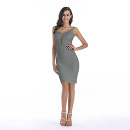 jersey maxi dresses Promo Codes - Women's Clothing Wholesale Stretch Knitwear Party Dresses Plus Size Skinny Sexy Club Wear Gorgeous Maxi Bodycon Jersey Dress