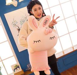 cadeaux rex lapin Promotion Oreiller lapin créatif mignon rex lapin en peluche jouet siesta oreiller amour lapin poupée enfants cadeau animaux en peluche