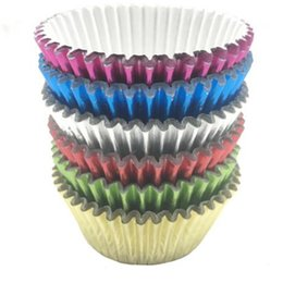 Wholesale Muffin Mixes Wholesale - Free shipping 1000pcs lot HOT mix foil cupcake cases papers muffin liners cake cups baking mould