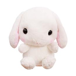 2019 mochilas de conejito de chicas Lindo Mochila de Conejo de Peluche Japonés Kawaii Bunny Mochila Conejo de Juguete de Kindergarten Niño Niña Bebé Estudiante Bolsas de Regalo de Navidad rebajas mochilas de conejito de chicas
