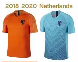 Camisa de futebol laranja on-line-2018-19 Nederland camisa de futebol Holanda longe de casa laranja MEMPHIS JERSEY ROBBEN 18 19 thai qualidade V.Persie holandês camisas de futebol