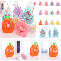 2019 ventilador de enfriamiento 12 Mini USB Unicornio Flamingo Piña Ventilador Verano Escritorio de Dibujos Animados Portátil Aire Recargable de Aire Enfriador Para Oficina En Casa 12 colores AAA522 ventilador de enfriamiento 12 baratos