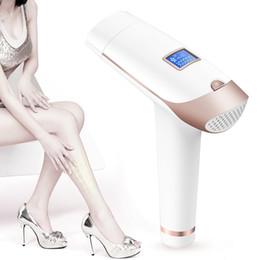 Gesicht haarentfernung maschine online-Heimgebrauch Mini IPL Permanent Laser Haarentfernung Hautverjüngung Falten Entferner Körper Gesicht IPL Haarentfernung Maschine Frauen Mann Achselhöhle Bein