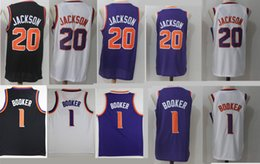 Wholesale Fan Goods - NCAA Wholesale TOP Fan 2018 Men New 1# Devin Booker Jersey 20# Josh Jackson Basketball Jerseys All Stitched Free Shipping Good shirts