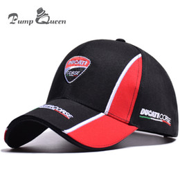 Pump Queen New 3D Embroidered Motorcycle Baseball Cap Men Women Outdoor  Sports Hats 100% Cotton Snapback Hats Fashion Sun Caps obey snapback on sale 674f7909a329