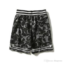 2019 cravate étiquettes en gros Nouvelle Arrivée Hommes Femmes Étoiles Camouflage Gris Lettres Shorts Imprimés Amant Lâche Pantalon Décontracté Coton Gris Camo Hip Hop Shorts