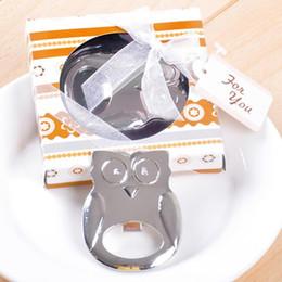 раздаточные коробки Скидка Нежная сова открывалка для бутылок свадебный подарок с коробкой подарков для гостей мода подарок открывалка для бутылок пива сувенир