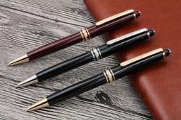 Escritura de plástico online-Suministros de escritura Oficina de negocios papelería pluma clásico 163 número de serie plástico Bolígrafo