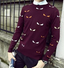 Wholesale Patterned Knitwear - Printed Men Sweaters Fashion Cartoon Pattern Sueter Hombre O-neck Jumpers Pullover Sweater Male Knitwear Brand Clothing