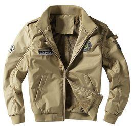 Wholesale mens short coat khaki - 2017 Autumn 1 Flight Jackets Men Casual Cotton jackets High quality Army Green mens Bomber coat 4XL