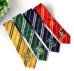 gravata slim de seda preta sólida Desconto Harry Potter Ties Acessórios De Vestuário Borboleta Gravata Ravenclaw Hufflepuff Gravata Hogwarts Listra Laços 4 design