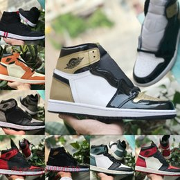 official photos e9c74 ded73 michael jordan 1 Top-Qualität Mid OG 1 Top 3 Männer Basketball-Schuhe nike  air Jordan 1s Homage To Home Banned gezüchtet Chicago Royal Blue Shattered  ...