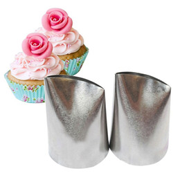 Wholesale Large Icing Tips - #874 Large Size Rose Icing Piping Nozzles Cake Cream Decoration Tips Pastry Tool