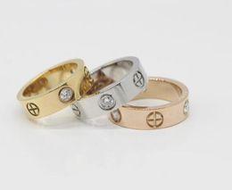 engagement platinum men ring UK - 2018 Titanium Steel Wedding Bands love Rings for women Luxury CZ Zirconia Engagement Ring men jewelry Gifts for Female 6mm