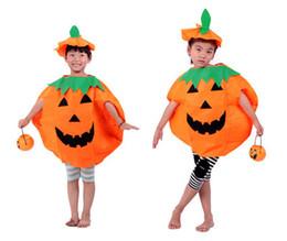 Deutschland Halloween-Partei der Qualitätskinder scherzt Klage-Kleidungs-Kürbis Clothes + Pumpkin-Hut für festliches freies Verschiffen t150 Halloweens Versorgung
