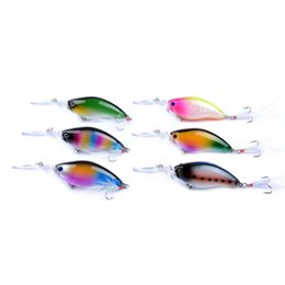 Isca de pesca grátis on-line-6 Pcs/lot Crankbait Fishing Lure 18g 11cm Lures Crank isca peixe isca 4# Anzóis Salitwater Freshwater Carp Fishing Swimbait Free Shipping