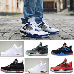 lowest price 16a79 c9645 Nike Air Jordan 4 Retro basketball shoes Großhandelslongischuhe hohe  Qualität 4s weißes Zement-reines Geld-Mannschuhe Gezücht-Abgabe-Spiel  Königliche ...