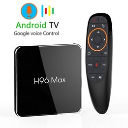 2021 téléviseur android 4gb ram H96 MAX X2 Google Contrôle vocal Android 8.1 Smart TV Box 4 Go de RAM 32 Go de ROM Set Top Box 2.4G / 5G Wifi Bluetooth Netflix 3D Home Media Player