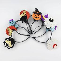 Wholesale Halloween Atmosphere - Halloween decoration party atmosphere dress headband masquerade men and women gather headband 2018 new hot headband wholesale