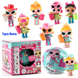 Wholesale Christmas Dresses For Babies - LOL Suprise Doll Functional Spray Water DIY Action Figure Toys Dress Up Baby Dolls Lil Sisters for Kids with Retail Package Christmas Gifts