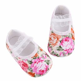 Wholesale Cotton Fabric Baby Headbands - 2016 Floral Party Princess Toddler Girl Shoes Headband Set,Kids Sapatos De Bebe Menina Flower Girls 1st Birthday Baby Moccasins