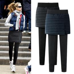 Wholesale Ankle Length Skirted Leggings - New design women thick leggings for winter Warm ladies' plus size leggings skirt style Thick Slim Leggings Tights ouc2148