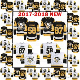 Wholesale Pittsburgh Embroidery - 2017-2018 New Pittsburgh Penguins 87 Sidney Crosby 58 Kris Letang Jersey Men's 18 Sidney Crosby Kris Letang Hockey Jerseys Embroidery