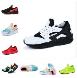 Wholesale casual nude color shoes - Free Shipping Size 36-46 Hot sale 2018 New Air Huarache For Men & Women Casual Shoes Men 12 color