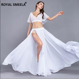 Disfraces de Danza del Vientre Para Mujeres Práctica Ropa manga corta falda larga Dancer Performance Show Clothes ZH8811 desde fabricantes