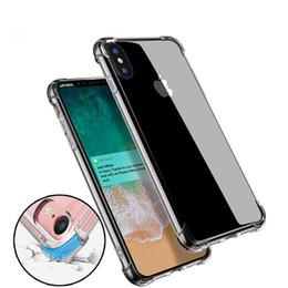 silicone iphone minions Promotion Étui de téléphone transparent transparent tpu anti-knock doux protection coque étui souple antichoc pour iPhone 6 6 7 8 plus x samsung s8 plus note8