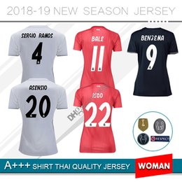 2019 Real Madrid soccer jersey 18 19 home away Asensio SERGIO MODRIC RAMOS  MARCELO BALE ISCO Camiseta KROOS 2018 women football shirts real madrid  women ... 6d76d9e3a