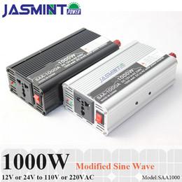 onde solaire Promotion 800W max 1600W 12VDC 110V ou 220VAC onduleur modifié pour système solaire à faible bruit Mini Smart Car Inverter