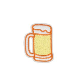 Wholesale Cheap Beer Wholesalers - 10PCS Diy Stripe Sew Stitchwork Clothing Glass of Beer Patches for jacket Cheap Embroidery Patches for Garments Accessories Stickers Patch