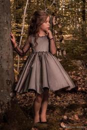 2019 vestidos flor menina marfim camada Pageant crianças vestido de tule preto flor menina vestidos de casamento da menina na altura do joelho vestido de festa de aniversário 17flgb453