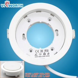 lamp gx53 Coupons - High Quality led bases gx53 led lamp holder for gx53 light white body