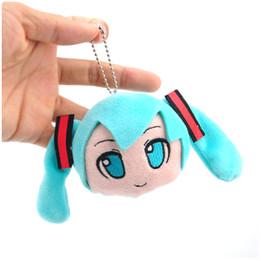 "Wholesale Miku Vocaloid Plush - Free Shipping 10 Lot 3"" VOCALOID Hatsune Miku Smiling Key Bag Pendant For Kids Plush Keychain Figure"