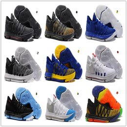 132ce40a6a70 2018 New Zoom KD 10 Anniversary PE BHM Oreo triple black Men Basketball Shoes  KD 10 Elite Low Kevin Durant Athletic Sport Sneakers